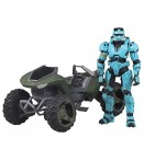 "AF Halo Vehicle - Mongoose with Spartan EOD (Cyan) - 6"" Figure"