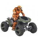 "AF Halo Vehicle - Mongoose with Spartan Mark V (Orange) - 6"" Fig"