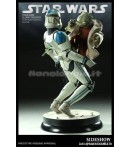 "ST SW - Yoda and Clone Trooper - 17"" Statue"