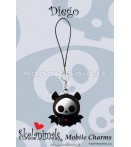 "MC Skelanimals - Diego (Bat) - 1"" Mobile Charm"