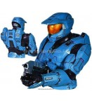 "AP Halo - Blue Spartan Bust - 7"" Bank"