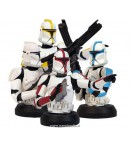 SW CLONE TROOPERS AOTC BUST UPS BOX SET