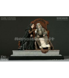 ST LOTR - Dark Counsel Theoden and Grima - 1/9 Statue