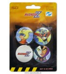 MAZINGER Z PINS SET -A- (4)