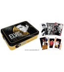 ELVIS PLAYING CARDS TIN SET -GOLD-