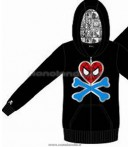 FELPA SPIDEY LOGO BLACK WOMAN