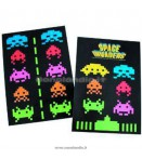 SPACE INVADERS FRIDGE MAGNETS 2PC SET