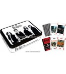 BEATLES PLAYING CARDS TIN SET BLACK