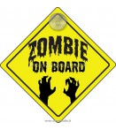 ZOMBIE ON BOARD PX HANGING CAR SIGN