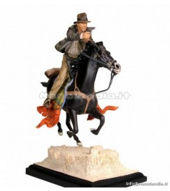 INDIANA JONES ON HORSE STATUE