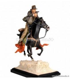 INDIANA JONES ON HORSE STATUE