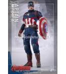 "Action Figure - Hot Toys - Avengers 12"" Captain America Aou Af"