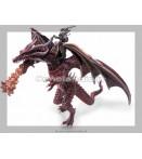 Figure - Plastoy - Dragons Big Flying Dragon W Knight Fig