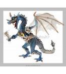 Figure - Plastoy - Dragons Blue Armor Dragon Figure