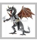 Figure - Plastoy - Dragons Grey Armor Dragon Figure