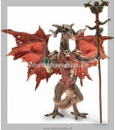Figure - Plastoy - Dragons Red Wizard Dragon Figure