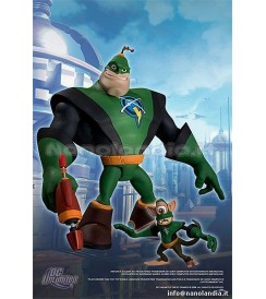 AF R&C Series 1 - Captain Qwark with Scrunch - Action Figure